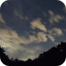 Milkyway behind Clouds Animation GIF,                                Christian Kussberger