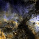Core of Eta Carina Nebula from Chile in SHO,                                Glenn C Newell