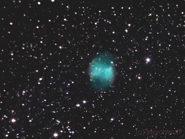 Dumbbell Nebula, m27 - eVscope 20m, Bortle 4,                                psychwolf