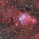 NGC 2264 and Cone Nebula LRGBHa final version,                                peterfritzenwallner