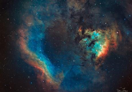Sh2-171 (Cederblad 214), NGC 7822, and Berkeley 59,                                Gary Lopez