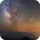 MilkyWay and Pyrénées mountains,                                Maxime Tessier