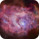 Lagoon nebula SHO - Two Panel Mosaic - Acquired and Kindly Shared by Kevin Morefield !!!,                                  Daniel Nobre