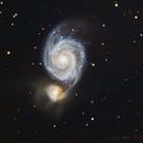 M51 Whirlpool Galaxy,                                Mike Freeberg