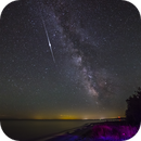 The Milky Way with an Iridium Flare,                                Jason Guenzel