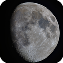 Moon 82% illuminated South Libration 7  West 4,                                Siegfried