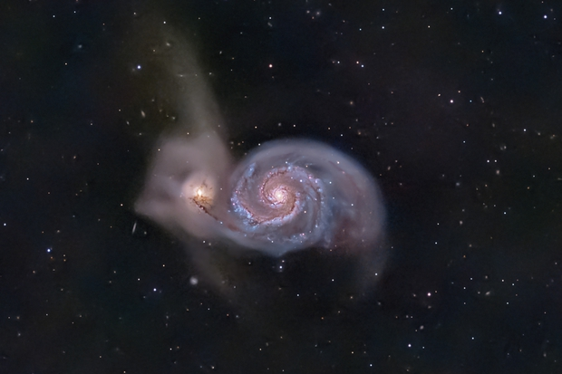 M51 and background galaxies,                                  pete_xl