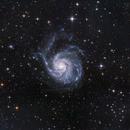 M101, The Pinwheel Galaxy and galactic cirrus,                                Jari Saukkonen