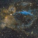 Sh2-157 - Lobster Claw Nebula in SHO palette,                                Sasho Panov