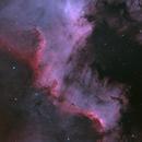 The Cygnus Wall in HOO - NGC7000,                                Martin Dufour