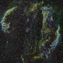 Veil Nebula Mosaic in SHO Palette Through Smoke,                                  Ben Koltenbah