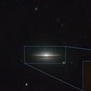 Sombrero Galaxy,                                Travin