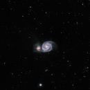 M51,                                starfield