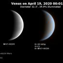 Venus on 2020-04-18 (Near-UV and IR),                                JDJ