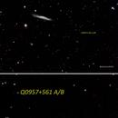Q0957+561 A/B next to NGC 3079 - a 8.7 billion lightyear deep view from my backyard,                                GalacticRAVE