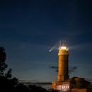 Neowise over the Lighthouse (Cabo Mayor, Santander),                                Vega