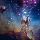 The Pillars in Eagle Nebula - HSO pallet,                                  Deddy Dayag