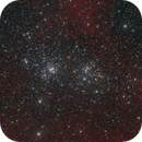 Double Cluster in Perseus - two panel mosaic,                                Steve Milne