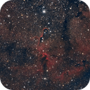 Elephant's Trunk Nebula with Herschel's Garnet Star,                                Kristopher Setnes
