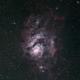 The Lagoon Nebula, Messier 8, in Sagittarius,                                astropical