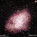 Crab nebula 2005-2016 evolution,                                Daniele Gasparri