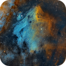 Pelican Nebula - IC 5070,  IC 5067 - Hubble Palette,                                Chuck's Astrophot...