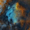 Pelican Nebula - IC 5070,  IC 5067 - Hubble Palette,                                Chuck's Astrophot...