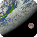 The Moon behind New Zealand from Himawari 8.,                                Kevin Parker