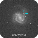 Supernova 2020jfo - Before and After Comparison,                                lefty7283