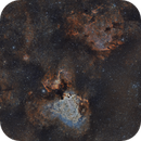 From eagle to swan  widefield 6 panes mosaic (2021),                                lukfer