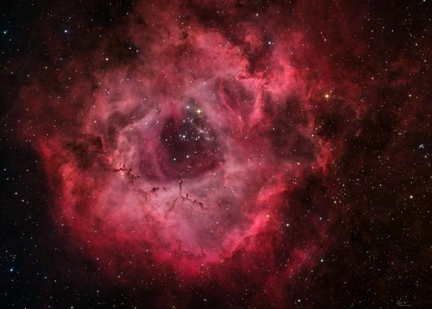 The Flaming Rose - HaRGB - NGC 2237 (Rosette Nebula),                                Min Xie