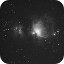 Test shot of Orion nebula M42 - in horrible condition,                                pptw