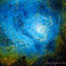 M8 - The Lagoon Nebula in Narrowband,                                Fred Bagni