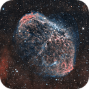 NGC 6888 The Crescent Nebula SHO Modified,                                Tom Peter AKA Astrovetteman