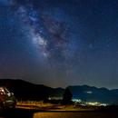 Milky Way over Chelmos mount, Greece,                                pemag
