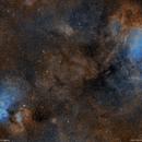 From eagle to swan nebulas, widefield,                                lukfer