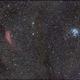 california nebula and pleiades,                                binsky161