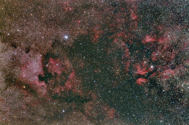 Nebulose a nord della costellazione del Cigno - Canon Central DS Cds 600d,                                Michele Bortolott...