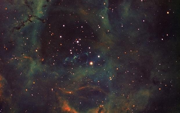 NGC 2244 - The Rosette Nebula,                                Nathan