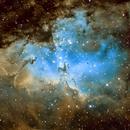 M  16 Eagle Nebula / Pillars of creation in SHO Hubble Palette,                                Thomas Hellwing