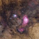 Lagoon and Trifid nebulae wide-field,                                Sabine Gloaguen