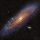 M31 - Andromeda Galaxy - 2-panel HaLRGB,                                Mikko Viljamaa