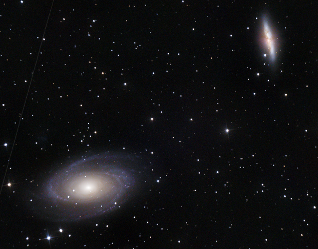 M81 and M82 - Bode's and The Cigar Galaxies - 03 February 2019,                                Timothy Fukuyama