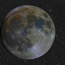 Luna con fondo stellato,                                Andrea Pistocchin...