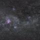 Carina nebula & Southern cross wide field // Campo amplio Nebulosa Carina y Cruz del Sur,                                KineCaroca