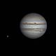 Jupiter with Ganymed moon,                                Olivier Ravayrol