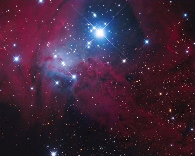 Fox Fur Nebula LRGB + Ha,                                Christopher Gomez
