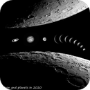 Moon and planets in 2020,                                Loxley