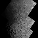 Lune, montage de trois photos,                                Daniel Fournier