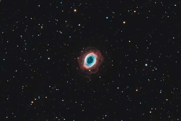 M57 with outer shells (HaO3O3 with RGB stars),                                Andreas Eleftheriou